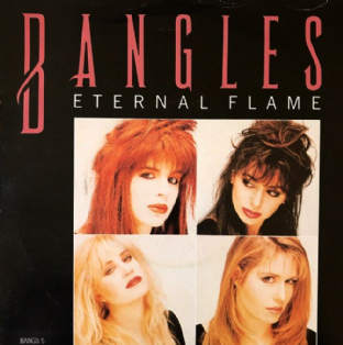 "Bangles ‎- Eternal Flame (7"") (VG-/G-VG)"